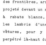 Typed Page in french