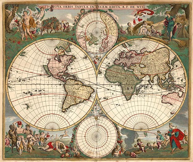 The de Wit map of 1660