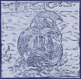Engraving of a ship