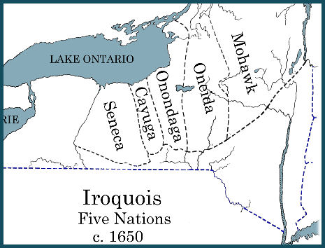 The iroquois 5 nations map