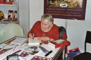 Anne signing books in Geneva