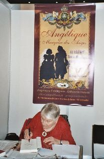 Anne and Poster at Salon du Livre