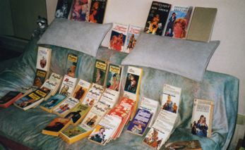Sofa with Angelique Books