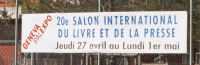 Salon du Livre advertising hoarding