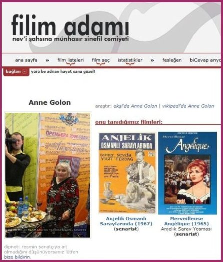 Anne Golon and Films