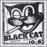 Black Cat Cartoon Cigarette Logo