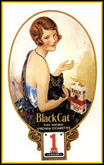 Magazine Ad UK for Black Cat Cigarettes