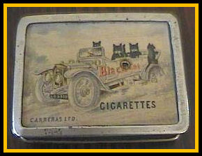 Cigarette Tin featuring Blac Cats in a Car