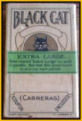 Green Stripe Black Cat Cigarettes