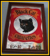 Black Cat Cigarettes Mirror