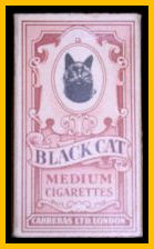 Black Cat Cigarettes Pink Packet