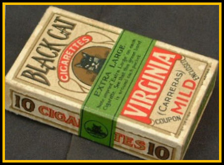 Packet of Black Cat Cigarettes