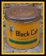 Black Cat Round Cigarette Tin