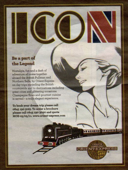 Modern Poster for the orient express