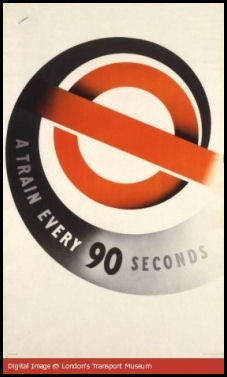 Poster claiming underground train every 90 seconds