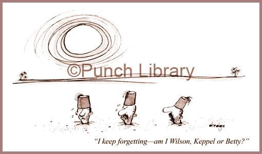 Wilson Keppel and Betty Punch Cartoon