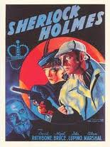 An action shot of Basil Rathbone and Leading Lady Poster