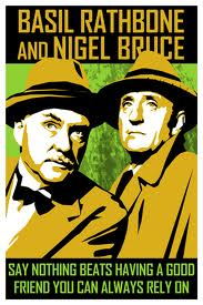 Rathbone and Bruce as Sherlock and Watson