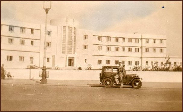 Man posing in front of Midland Hotel