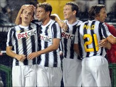 NCFC picture featuring 4 Juventus Players