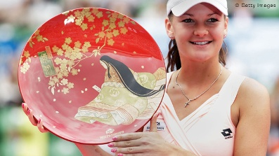 Agnieszka with Japan Plate Trophy