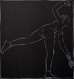 Eric Gill Tennis Player 1923 original
