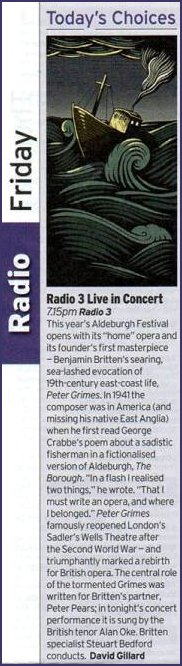 Radio Times Radio Programme Live in Concert