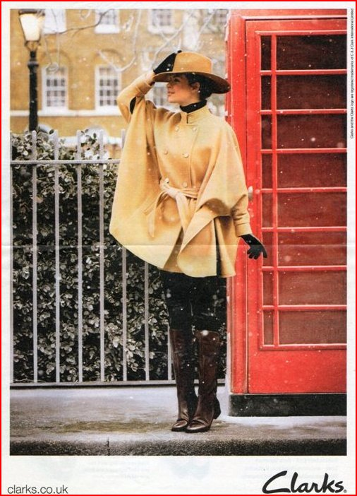 Clarks Shoes Advert using telephone kiosk
