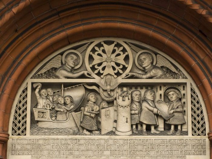 French Huguenot Church relief London