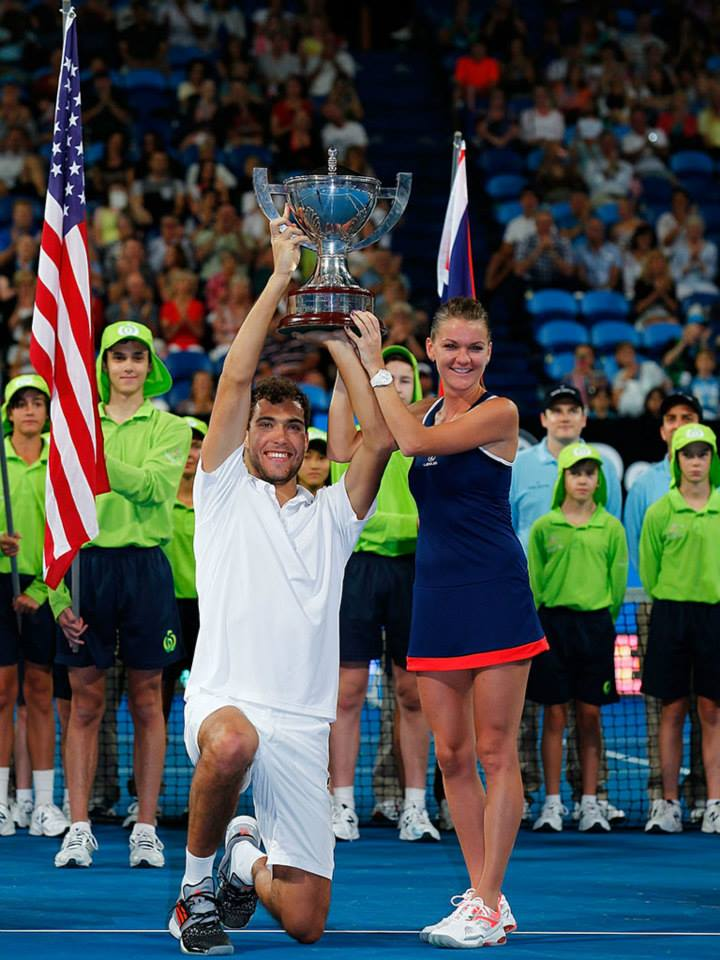Aga and Jerzy hold the Hopman Cup