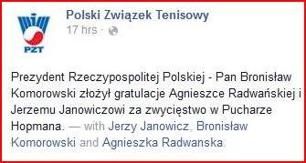 Provenance of letter from President of Poland