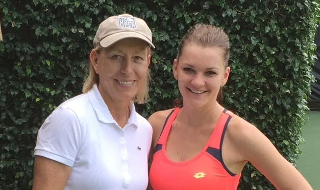 Aga with tennis legend Martina Navratilova