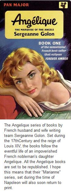 Pin Interest Book Cover of original Pan Giant Angelique