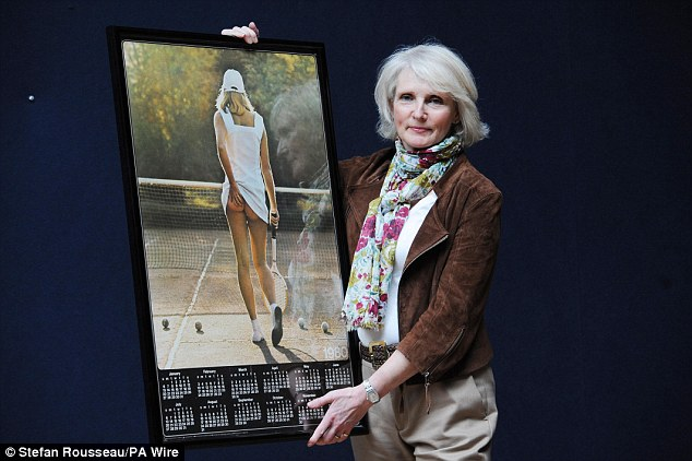 Original Poster Girl with calendar - Fiona Walker