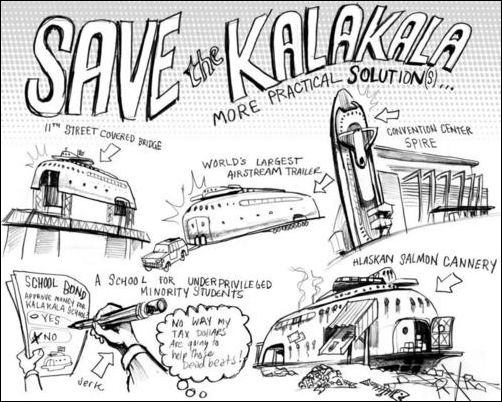 Artwork campaigning for the Kalakala