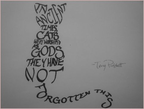 Cat Word Art by Terry Pratchett