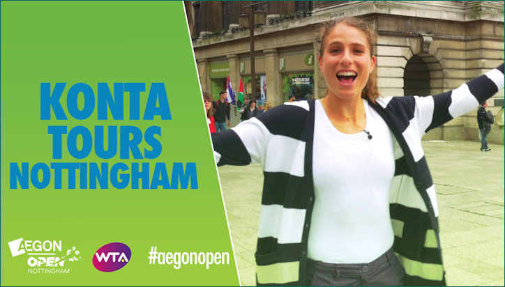 Jo Konta Poster Girl for the Nottingham Open