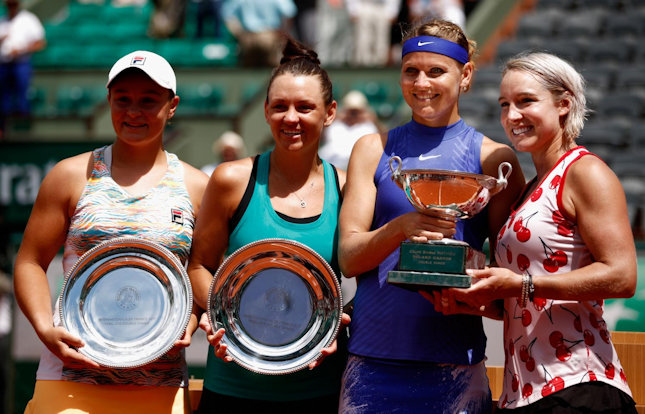 Safarova and Mattek-Sands French Open Ladies Doubles Champions 2017