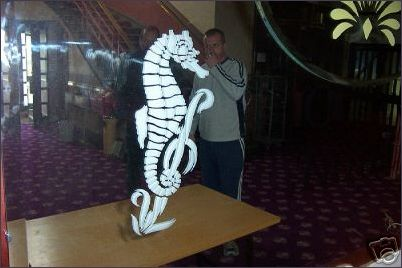 Seahorse design on lobby mirror