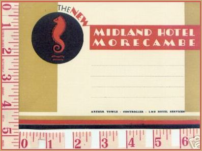 Midland Hotel Label