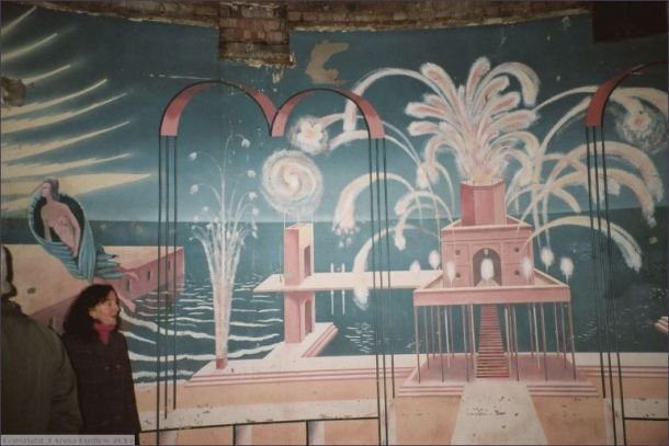Rotunda with original murals repainted for Poirot
