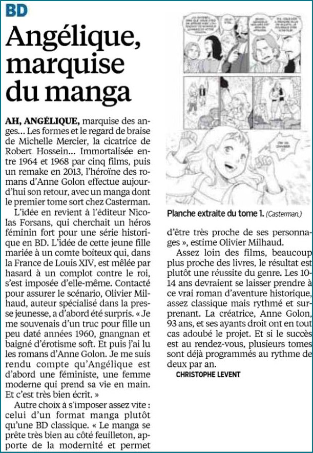 Manga Review naming the Marquise du Manga