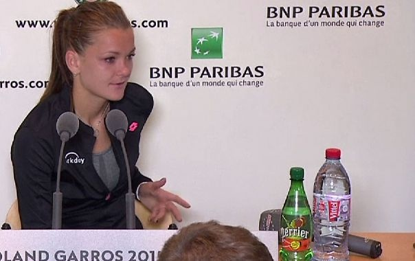 Post match interview Aga Radwanska
