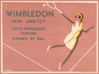 1930 Wimbledon Poster by Charles Burton
