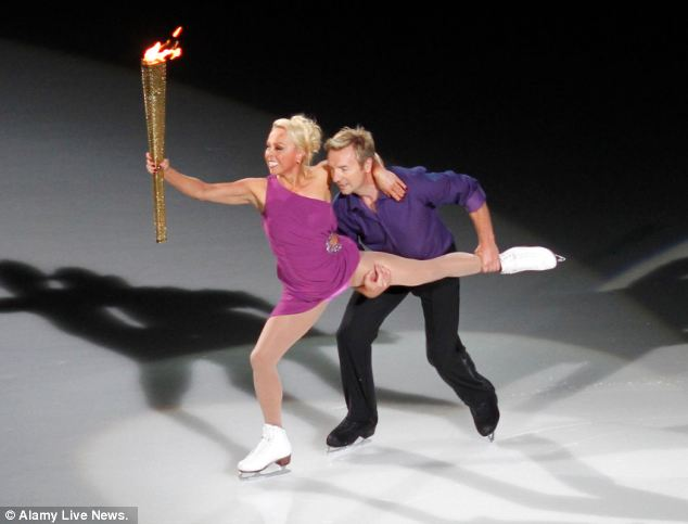 Dancing on ICe before handing over the Olympic Flame