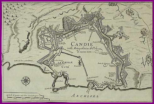 Map of 1688 Candia