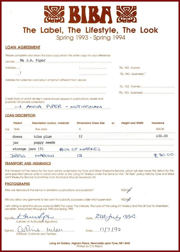 Laing Loan Form
