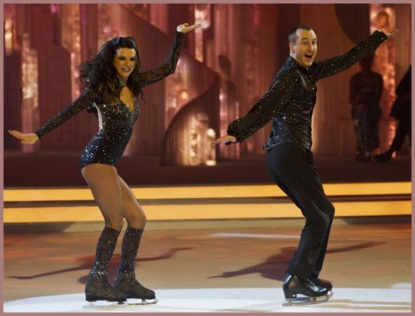 Action Shot Dancing on Ice