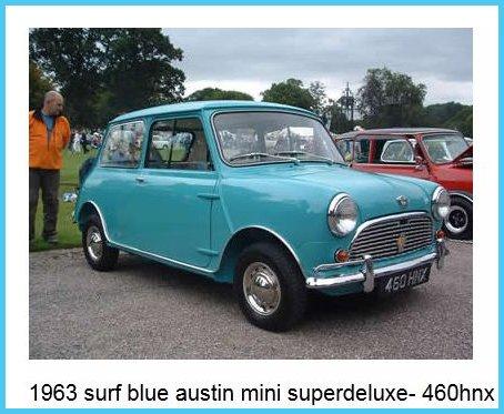 Classic Austin MINI COOPER BLUE/WHITE (1968) With Cooper S ...  Old Blue Mini