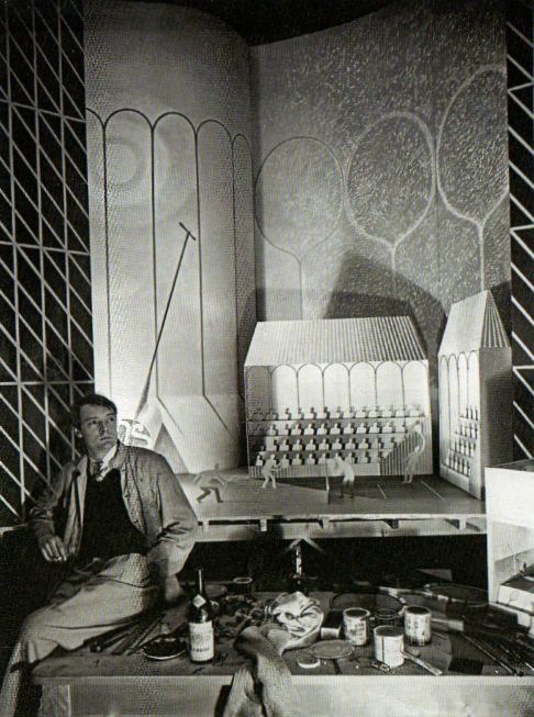 Ravilious with his design